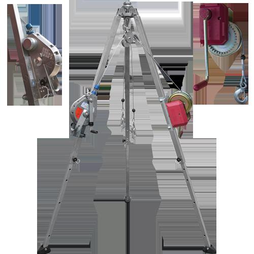 Edge Tripod set with hoists