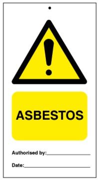 75DF125002KE Tie Tag Asbestos Denfoil
