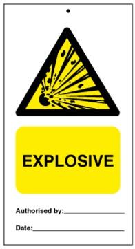 75DF125008KE Tie Tag Explosive Denfoil