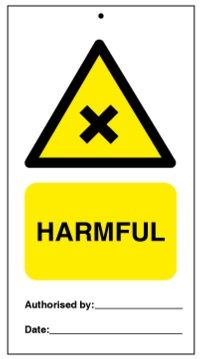 75DF125011KE Tie Tag Harmful Denfoil