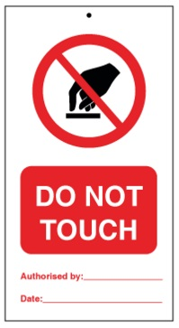 75DF125058KE Tie Tag Do Not Touch Denfoil