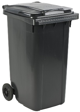 Kliko Containers in several colors, 120, 240 & 360 liter