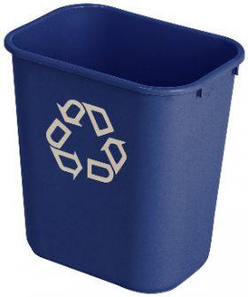 Rubbermaid Polyethylene rectangular garbage bins