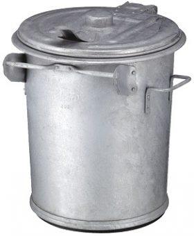 Galvanized steel garbage bins