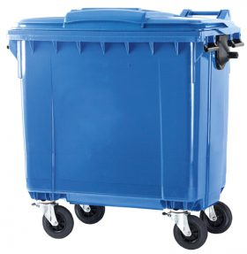 Garbage containers with 4 castor 770 & 1100 liter