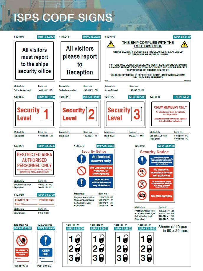 Denfoil ISPS Code signs 01