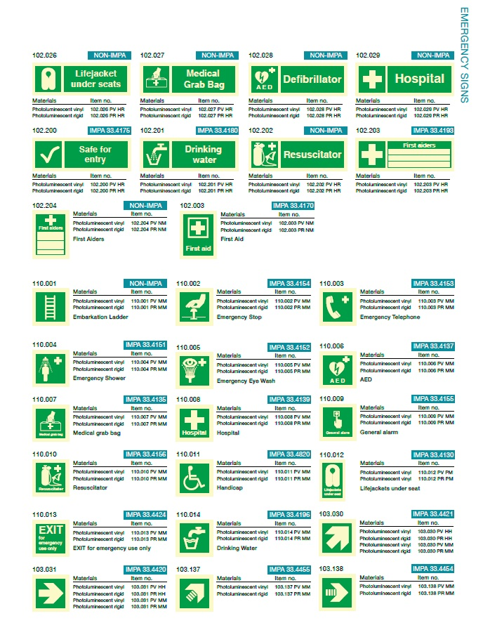 Denfoil Imo Emergency Signs 02