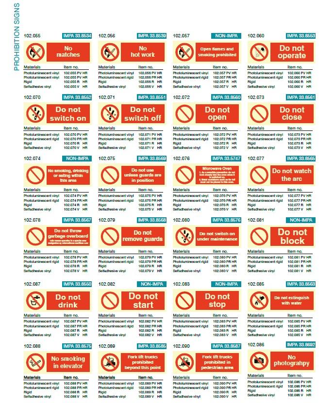 Denfoil Prohibition signs 02