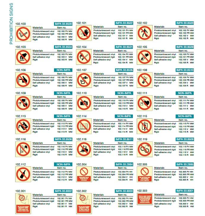 Denfoil Prohibition signs 04