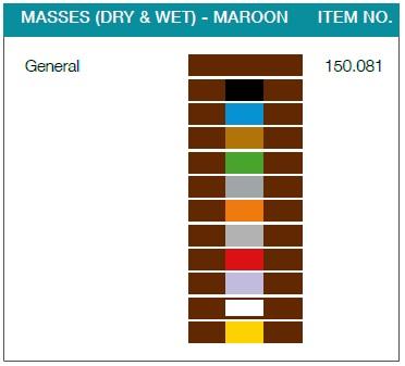 Denfoil masses (dry & wet) maroon
