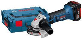 Haakse slijper Bosch gws-18-125-v-li-33562 + koffer