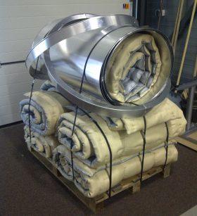 Insulation matras for exhaust gas bellow web