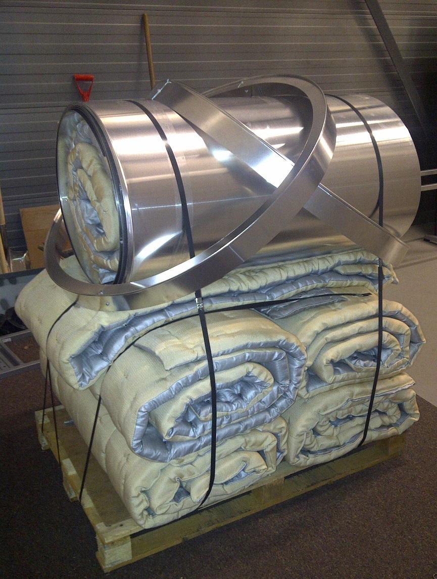 Insulation mattress for exhaust gas bellow