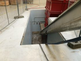 Recycling Machine Pit before Swiss Solutions Hand Rail Installation