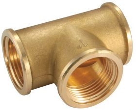 Tee 130 brass